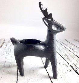 Black Deer Candle Holder