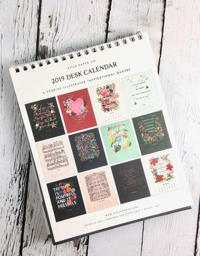Inspirational Quote 2019 Desk Calendar