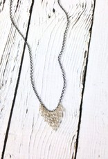 Handmade Sterling Silver Necklace with graduated labradorite stacks on 14kt Gold Fill Headpins, Oxidized Chain