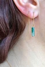 14k Sahara Threader Earrings with Labradorite