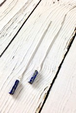 Sterling Silver Arroyo Threader Earrings with Lapis
