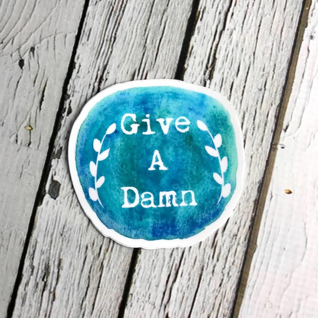 Locally-made Give A Damn Sticker
