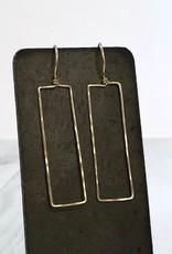 Handmade 14kt Gold Fill Rectangular Earrings