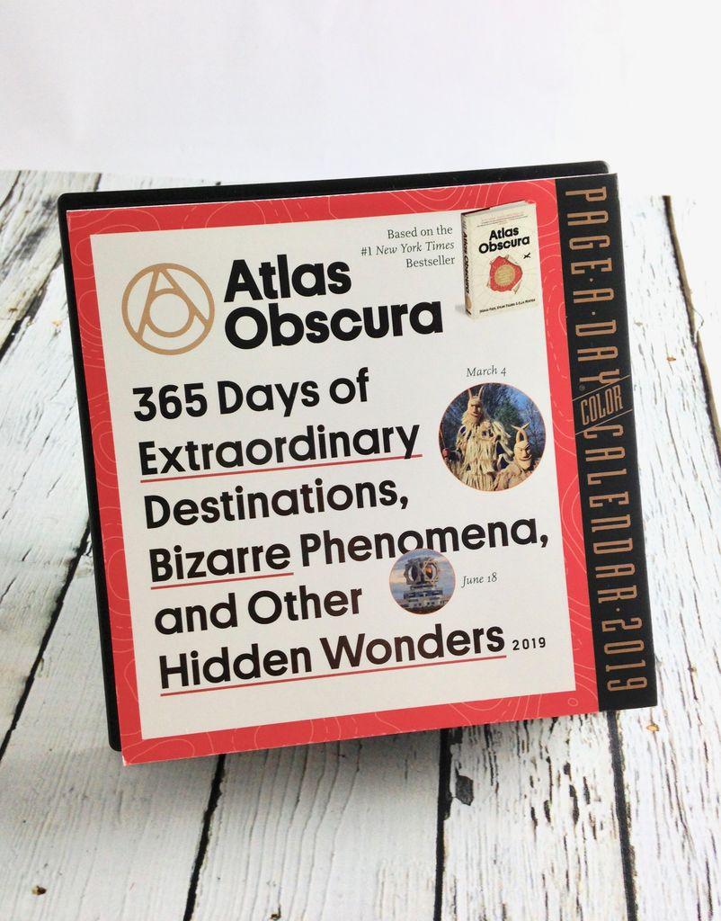 Atlas Obscura 2019 Daily Desk Calendar