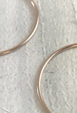 Rose Goldfill Endless Hoop Earrings, 35mm