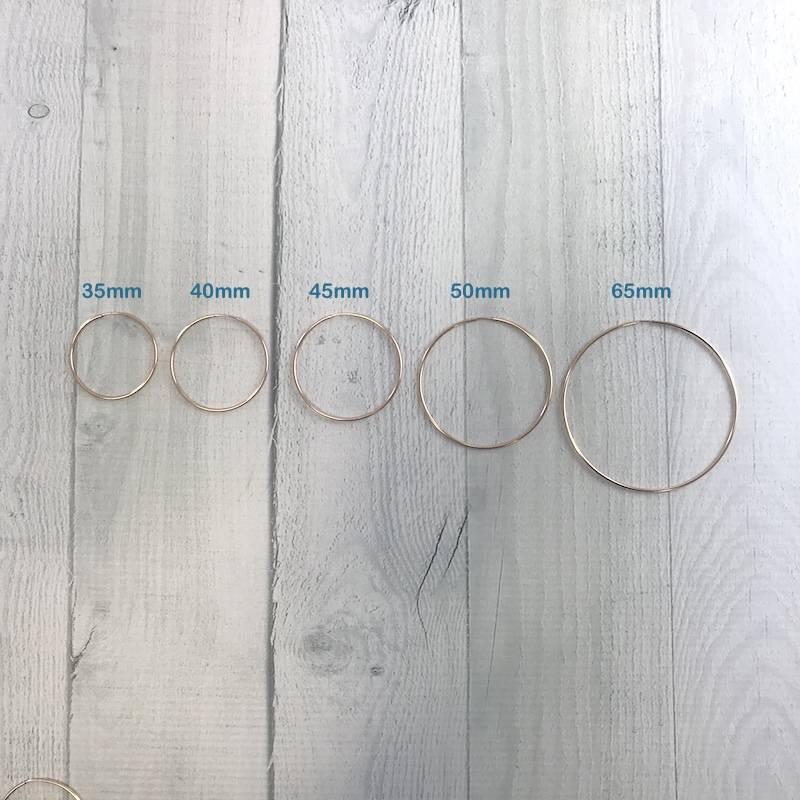 Rose Goldfill Endless Hoop Earrings, 50mm