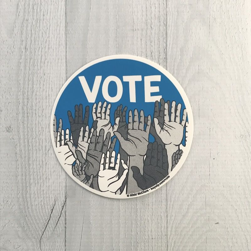 Vote! Round Vinyl Sticker
