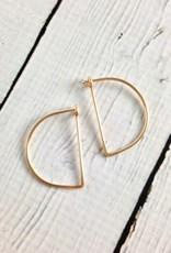 Gold Filled Small Half Moon Minimal Hoop Earrings
