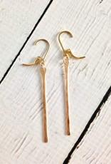 Gold Filled Stem Earrings