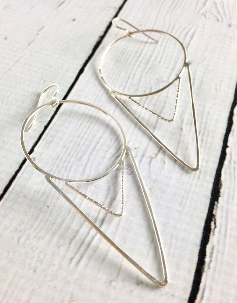 Handmade Sterling Silver Cora Earrings