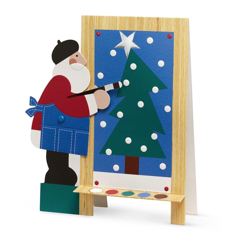 MoMA Santa's Masterpiece Boxed Holiday Cards by Sandra Lounsbury Foose, Set of 8