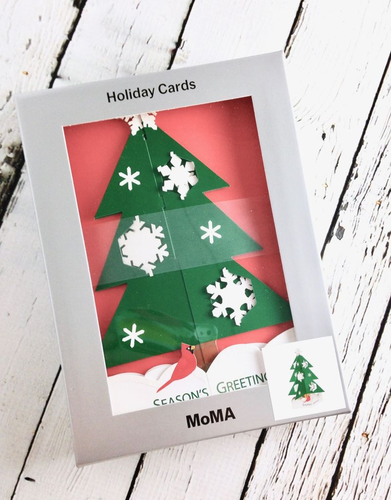 MoMA Snowy Pine Boxed Holiday Cards by Jann Johnson, Set of 8