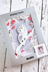 MoMA Wintery Owl Pop-up Holiday Card by Jackie Huang, Boxed Set of 8