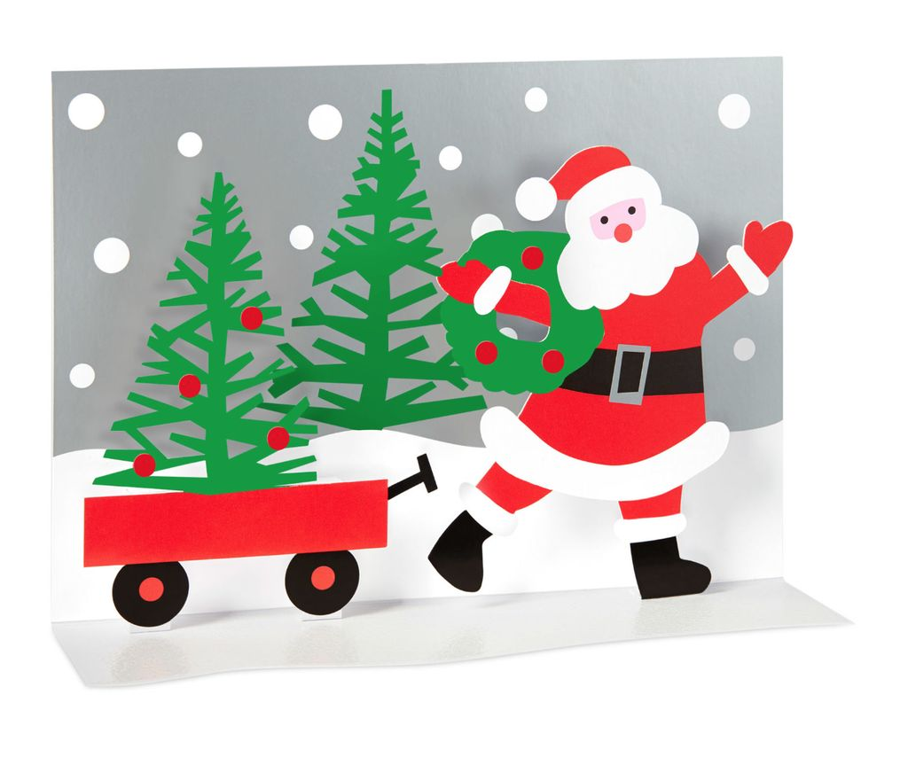 MoMA Santa\'s Wagon Boxed Holiday Cards - Silver in the City
