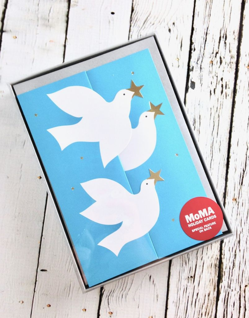 MoMA Soaring Doves Boxed Holiday Cards by Keisuke Unosawa, Set of 8