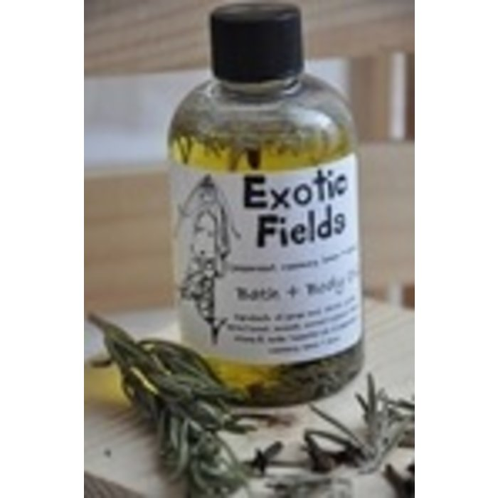 EXOTIC FIELDS MASSAGE OIL 8 OZ