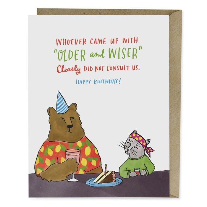 OLDER WISER CARD