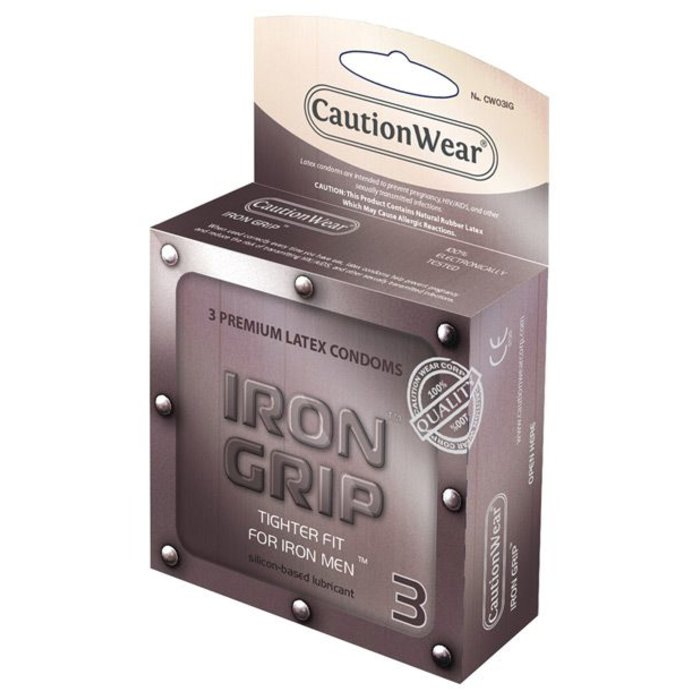 CAUTION WEAR IRON GRIP x 3