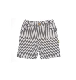 Nui Long chambray shorts with pockets and contrast stitch detail.