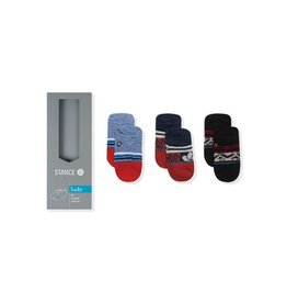 Stance Stance, Infant 3pk Red Tide Socks