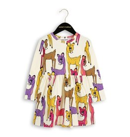 MiniRodini Mini Rodini, Roe Deer LS Dress
