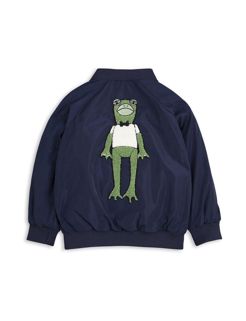 MiniRodini Mini Rodini, Frog Baseball Jacket