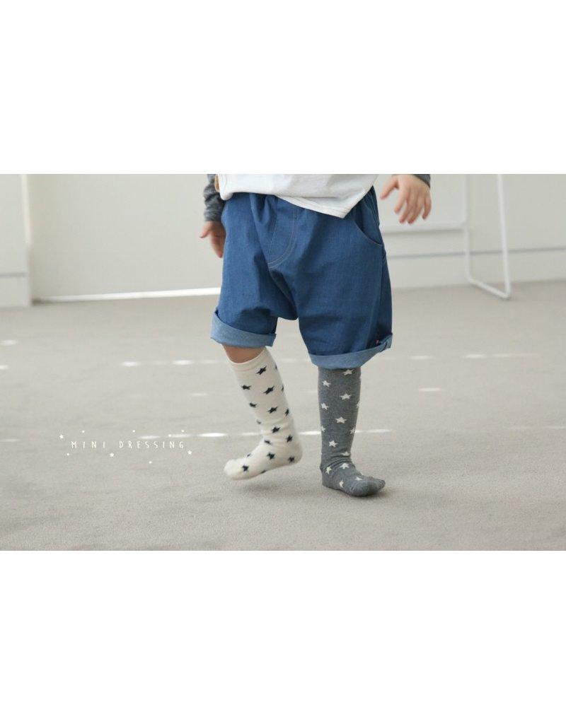 Mini Dressing Mini-Dressing, Star Knee Socks