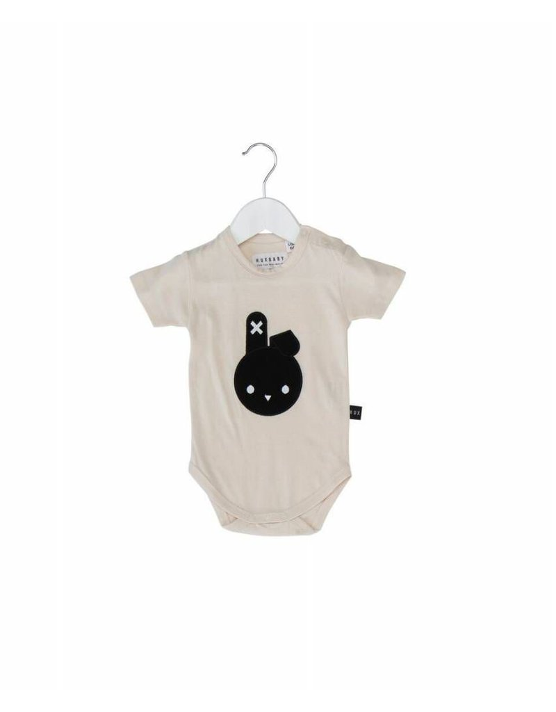 HuxBaby Hux Baby, Bunny Applique Onesie