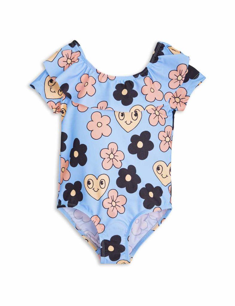 MiniRodini Mini Rodini, Flower Short Sleeve Swimsuit