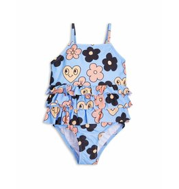 MiniRodini Mini Rodini, Flower Frill Swimsuit