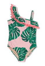 Shade Critters Shade Critters, Ruffle Shoulder 1 Piece Swimsuit