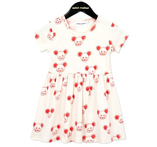 MiniRodini Mini Rodini, Mouse SS Dress