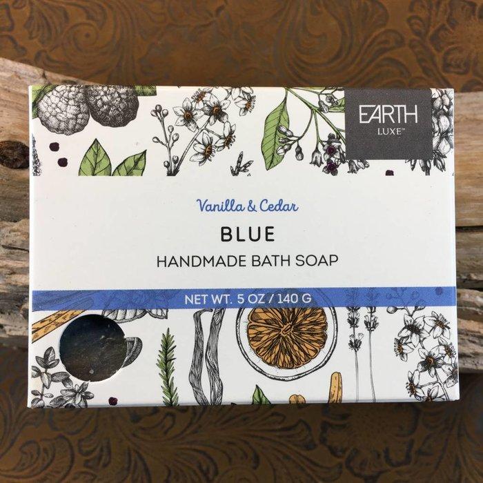 Vanilla & Cedar Blue Handmade Bath Soap