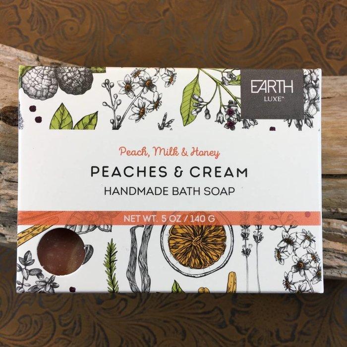 Peach, Milk & Honey Peaches & Cream Handmade Bath Soap by Earth Luxe