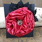 Black Lace & Red Flower Hairclip