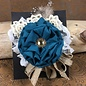 Teal Flower with Lace & Bling Hairclip