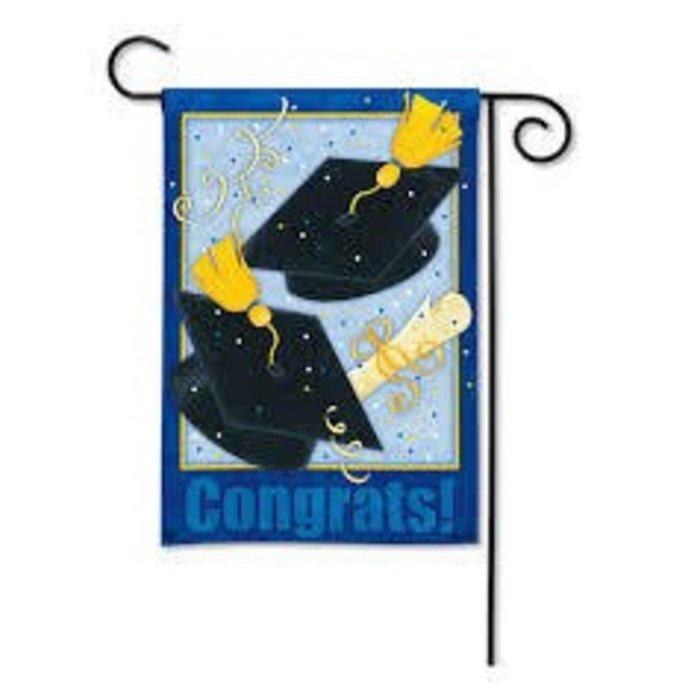 Congrats Garden Flag