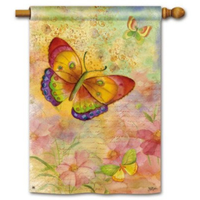 Colorful Butterflies Standard Flag