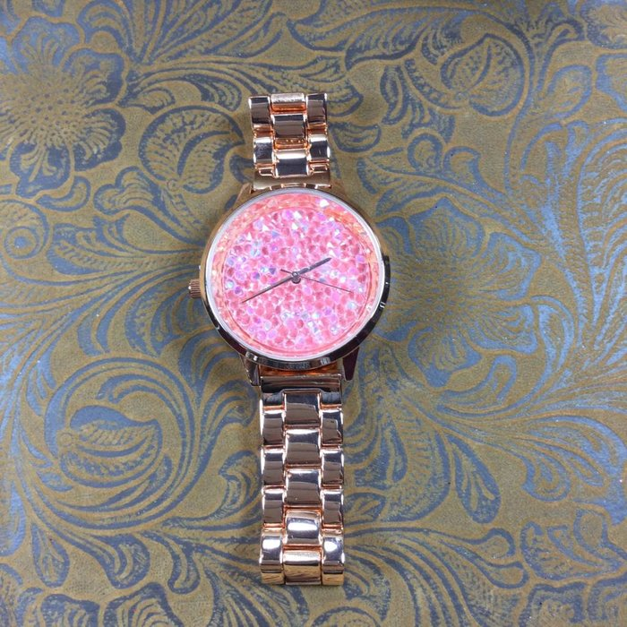 Fashion Crystal Face Watch