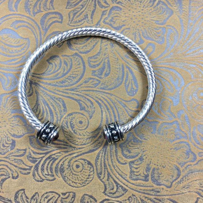 Silver Bracelet w/Rhinestone ends