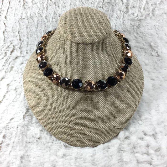 Round Black & Bronze Necklace Set