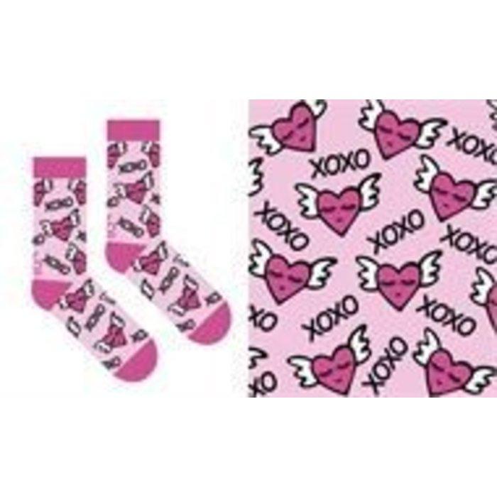 Flying Heart Socks
