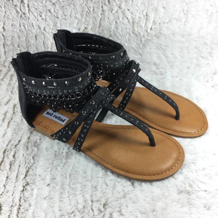 Wilma Black Lace Sandal
