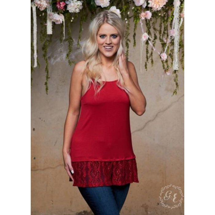 Shimmer Cami in Red
