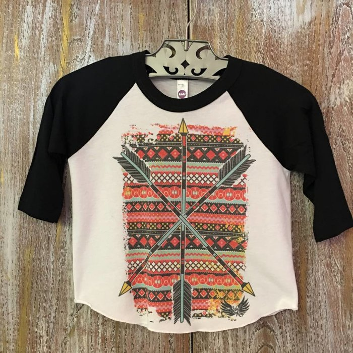 3 Arrow Raglan Top - Size 2T