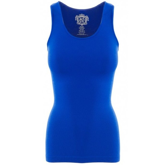 Ribbed Royal Blue Tank - ONE SIZE