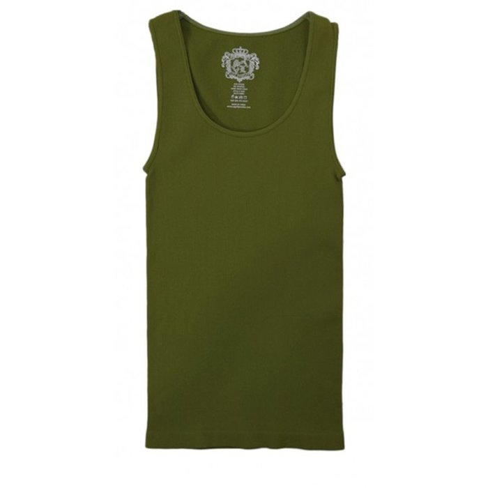 Ribbed OLIVE Tank - ONE SIZE