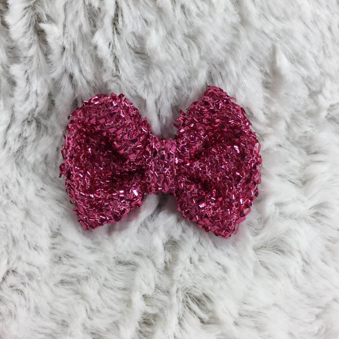 Small Hot Pink Glitter Bow