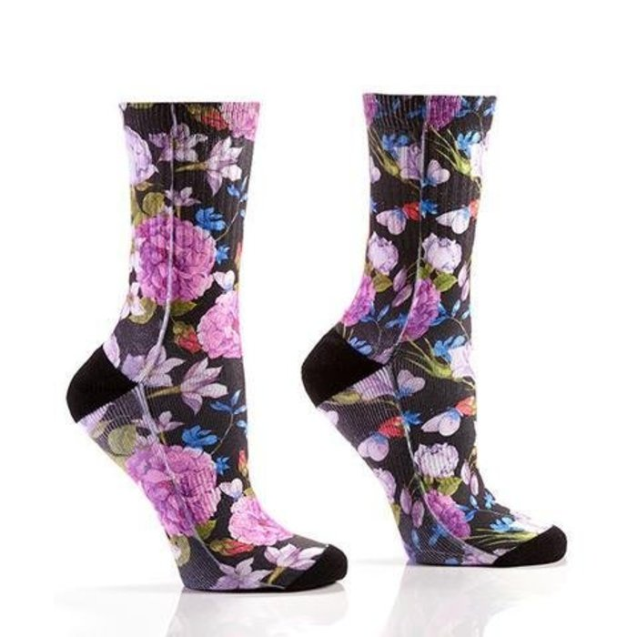 Purple Floral Socks