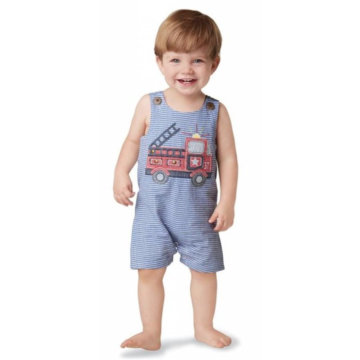Firetruck Stripe Shortall